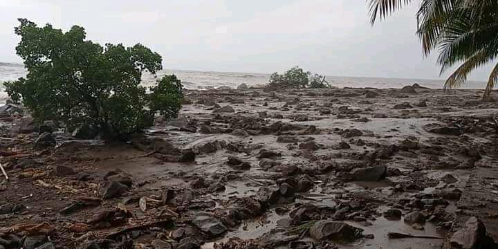 Suasana Pasca Banjir Bandang di Lembata, NTT.