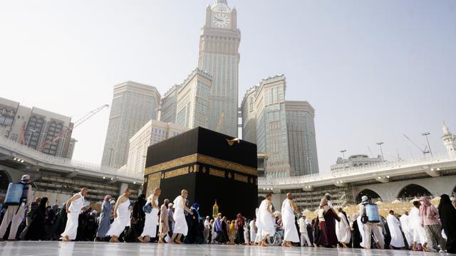 Jamaah di Mesjidil Haram, Mekah, Arab Saudi