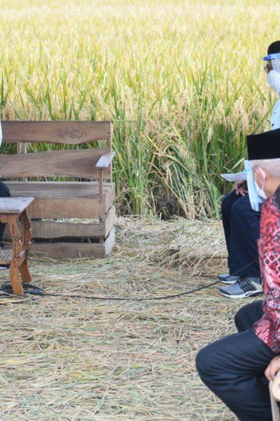 Presiden Jokowi saat berdialog dengan petani di Desa Kanigoro, Kecamatan Pagelaran, Kabupaten Malang, Kamis, (29/04/2021).