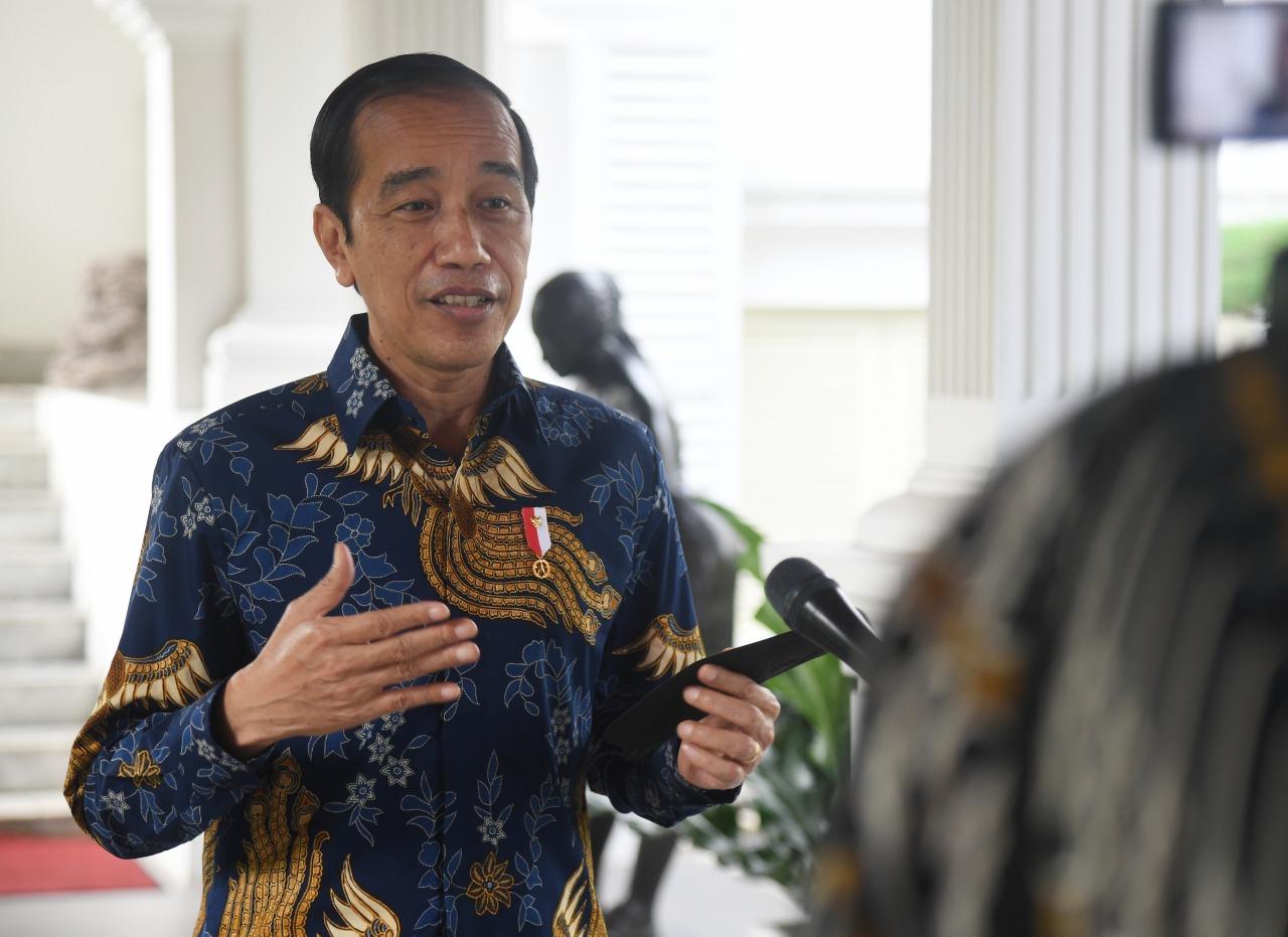 Presiden Jokowi ketika menanggapi meme BEM UI.