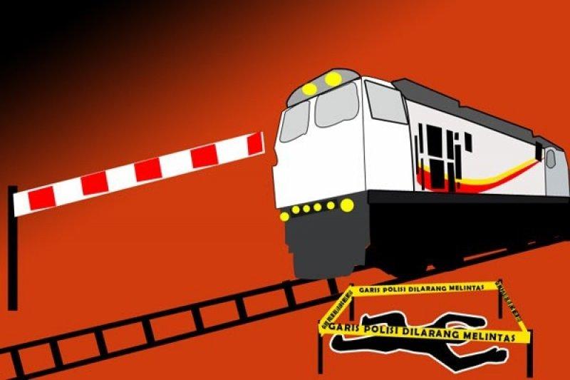 Ilustrasi kelecakaan kereta api. Sumber : Antara.
